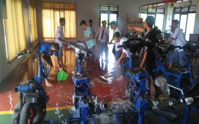 Di Tengah Pandemi COVID-19 BLKK Al-Huda Terus Melakukan Pemeliharaan Gedung Workshop